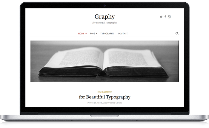 Graphy WordPress Theme | Themegraphy