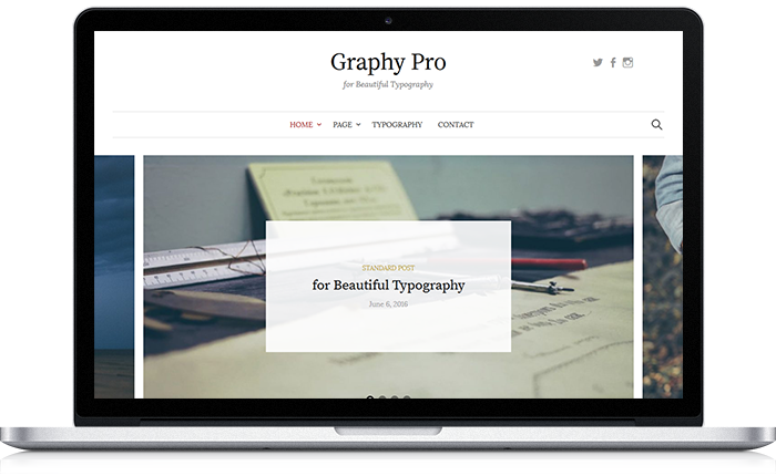 Graphy Pro WordPress Theme